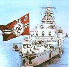 Stern view of German Pocket Battleship Admiral Graf Spee 1937. #17B (Color)