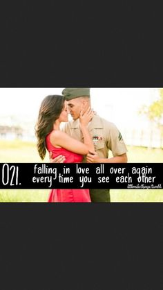 Falling in #love all over again every #time you see each other #USMC #servicecharlie #uniform