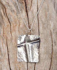 Fold Formed Sterling Silver Cross
