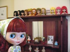 I love the little dolls on the shelf