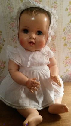 large vintage 1950's baby doll