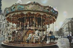 Vintage carousel.