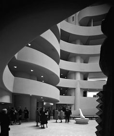 In celebration of the architects 150th birthday this month Manhattans @yossimilo gallery is opening Ezra Stoller Photographs Frank Lloyd Wright Architecture featuring an array of black-and-white images of Wrights work by his most trusted photographer. Get a preview of the exhibit opening June 29th through the #linkinbio - Architecture and Home Decor - Bedroom - Bathroom - Kitchen And Living Room Interior Design Decorating Ideas - #architecture #design #interiordesign #homedesign #architect…
