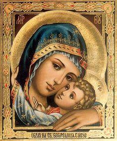 Icoon van Maria en Jezus