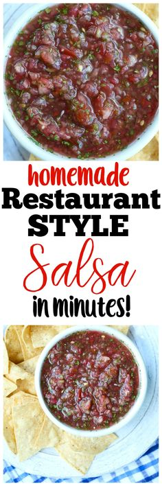 This Restaurant Style Salsa with Fresh Tomatoes is quick, easy, and so delicious! There's nothing better than homemade salsa. Heads up! This recipe was first published in 2014. The pictures were updated 2017. Enjoy! When Tim and I were in our dating years, his apartment was stocked with two main foods: Hamburger Helper and Ramen...Read More »