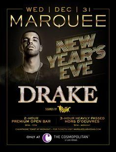 @LasVegasSoul: New Year's Eve 2015 w/@Drake at @MarqueeLV Nightclub in Las Vegas - December 31 - Black Folk Hot Spots Online #BlackBusiness Community