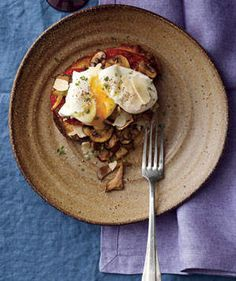 Poached Eggs With Mushrooms and Tomatoes   These nutritious morning meals are quick to prepare. Enjoy them at home—or as you're sprinting out the door.