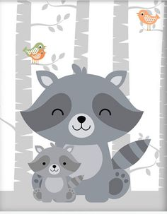 Cartoon Cute Polar Bear Canvas Art Print Painting Poster, Wall Picture for Home Decoration, Wall Decor Deer Nursery, Woodland Nursery Prints, Animal Nursery, Nursery Artwork, Baby Poster, Baby Art, Cute Illustration, Woodland Animals, Cute Drawings