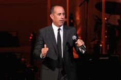 Comedian Jerry Seinfeld speaks onstage during the Change Begins Within: A David Lynch Foundation Benefit Concert on November 4, 2015 in New York City.