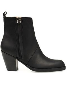 Pistol short leather boot