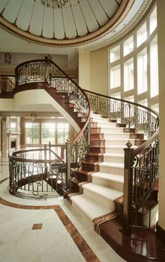 Iron Railings Along Immense Stairways--stunning.   ..rh