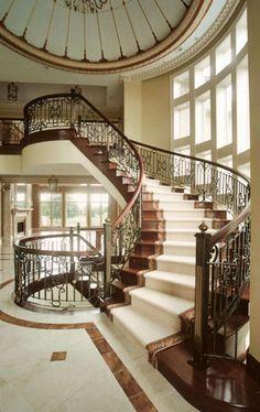 Iron Railings Along Immense Stairways--stunning.   ..rh