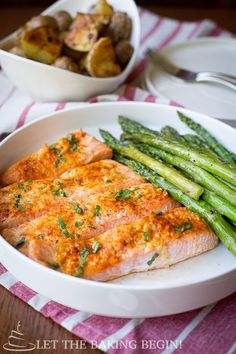 Potato Salmon and Asparagus One Pan Dinner {Clean, Easy & Delicious} – Let the Baking Begin!