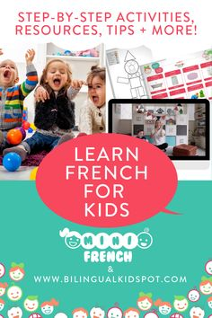 Learn French For Kids with free online lessons French Learning Books, Learning French For Kids, Teaching French, Learning Italian, Teaching Spanish, French Language Classes, German Language Learning, Learn A New Language, Basic French Words