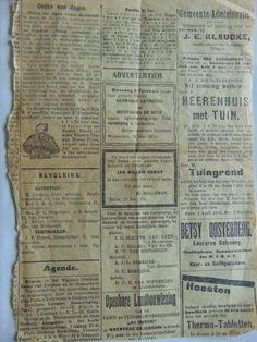 Oude krant Zutphen