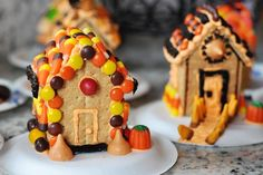 Simple Homemade Haunted Halloween Houses {Plus a Revolutionary New Way to Stick Them Together!}