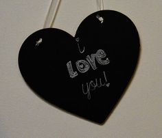 Chalkboard Heart with any color ribbon you choose