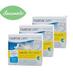 Absorvente orgânico Natracare Super com Abas Ultra Pads Pacote Jumbo com 36 absorventes- Lohas Store
