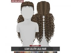 The Sims 4 LEAH LILLITH LALA HAIR KIDS VERSION