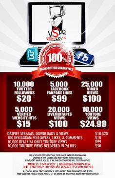 new rates from www.viralshowpr.com