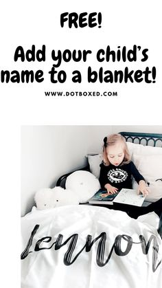 Add a name to Blankets, bedding and accessories by Dotboxed. Made in Canada 🇨🇦