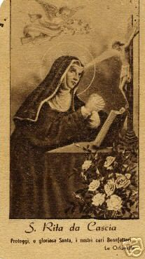 Saint Rita of Cascia: Patron Saint of Impossible Dreams. Patron Saint of loneliness.