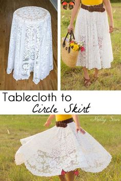 Nachhaltiges Nähen - Tutorial Tischdecke zum Rockkreis,  #nachhaltiges #nahen #rockkreis #tischde Sewing Projects For Beginners, Sewing Tutorials, Sewing Hacks, Sewing Patterns Free, Free Sewing, Recycled Paper Crafts, Handmade Crafts, Diy Crafts, Circle Skirt Tutorial