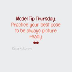 #Model Tip Thursday: Practice your best #pose to be always picture ready.