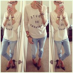 Boyfriend jeans We Wear, How To Wear, Boyfriend Jeans, Summer Outfits, T Shirts For Women, Instagram Posts, Summer Clothing, Clothes, Tops
