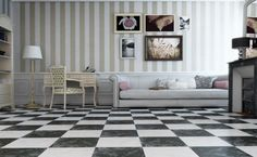 Inject the natural look into your floor spaces with these Otono Black Gloss Marble Effect Floor Tiles. They're made from ceramic and have a gloss finish. Slate Effect Tiles, Marble Effect, White Kitchen Floor, Marble Price, Black And White Tiles, Black White, Flooring Options, Kitchen Flooring, Balcony Flooring