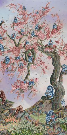 Raqib Shaw. Paradise Lost. Detail - Ракиб Шо. Потерянный Рай. Фрагмент Raqib Shaw, Visionary Art, Surreal Art, Contemporary Paintings, Artsy Fartsy, Surrealism, World, Creative, Image