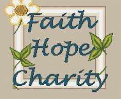 Free Cross Stitch Pattern - Faith Hope Charity