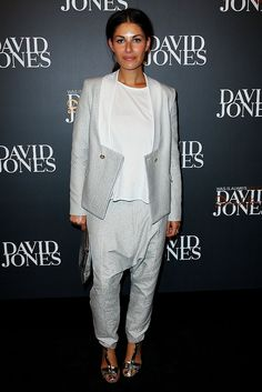 Camilla Freeman-Topper on the David Jones Fashion Launch red carpet, Autumn Winter 2013
