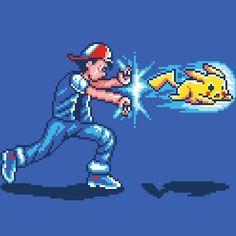#Hadoken !  #pikachu #ashketchum #pokemon #streetfighter #ryu #pokeball #pokedex #Nintendo #Videogames #videojuegos #sectornintendo #sectorn #gamer By Steven Lefcourt