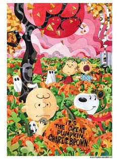 'It's The Great Pumpkin, Charlie Brown' by Jonathan Edwards and Studio Muti, new officially licensed limited edition prints from Dark Hall Mansion. Great Pumpkin Charlie Brown, It's The Great Pumpkin, Snoopy Halloween, Vintage Halloween, Animated Cartoon Characters, Halloween Artwork, Print Release, Watch Cartoons, Pop Culture Art