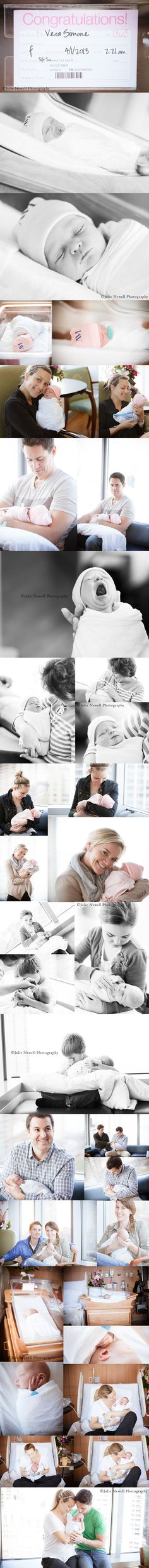 The Arrival of Our Sweet Baby Girl | The Celebrated Baby Julie Newell photography Hospital newborn photos