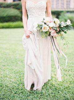 Blush pink spring garden wedding inspiration | Wedding Sparrow