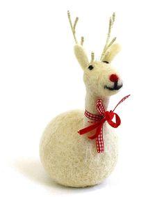Another great find on #zulily! Peeta the Reindeer Figurine #zulilyfinds