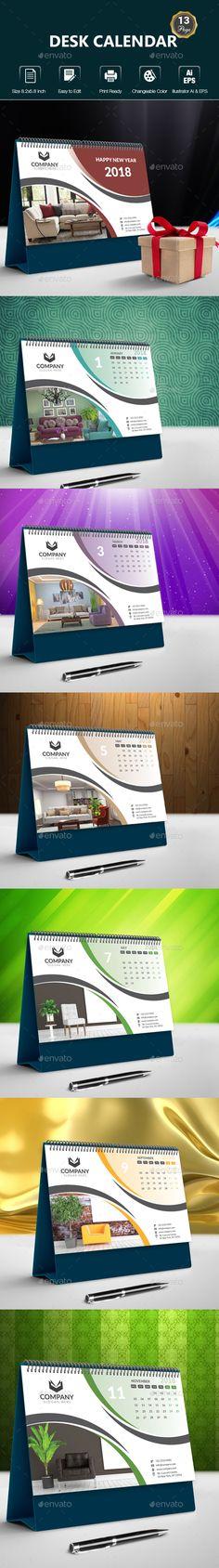 Desk Calendar - #Calendars #Stationery