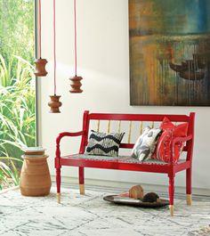 west elm's new south african collection >> Love this bench!