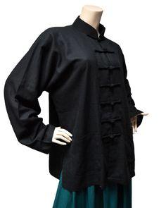 Ochi Black Tunic Sz 8 M L Asian Lagenlook #Ochi #Tunic #Versatile #BlackTunic #Lagenlook  Great Asian-inspired layering piece! Fits about a medium to large.