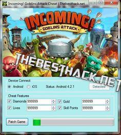 Incoming! Goblins Attack Hack Cheats (Diamonds/Lives/Gold/Skill)