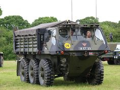 British military vehicle, an Alvis Stalwart, amphibious truck, built in crane, 4 wheel steering. Army Vehicles, Armored Vehicles, 4x4 Trucks, Diesel Trucks, Amphibious Vehicle, British Armed Forces, Offroader, Bug Out Vehicle, Armored Fighting Vehicle