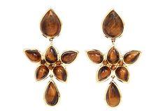 Mariposa Chandelier Earrings, Tiger's Eye on OneKingsLane.com