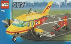 LEGO 7732 Air Mail instructions displayed page by page to help you build this amazing LEGO City set Lego Airport, Lego Plane, City Airport, Lego Kits, Lego City Sets, Lego System, Hero Factory, All Lego, Vintage Lego