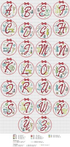 Cross stitch / Point de croix / Punto de cruz / Punto croce - alphabet / abécédaire / abecedario / alfabeto - 'Couture' by Les Brodeuses Parisiennes