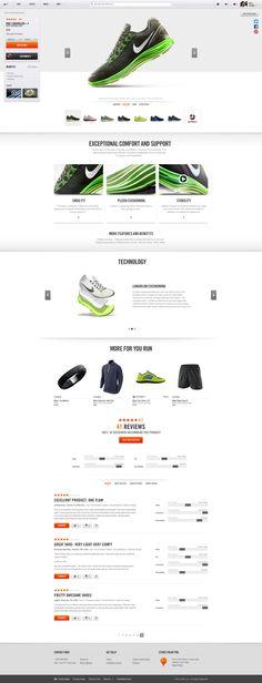 Nike.com by Erik Herrström, via Behance