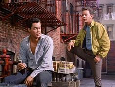 Russ Tamblyn and Richard Beymer in West Side Story. AKA Benjamin Horne and Dr. Jacoby from Twin Peaks. whooooah.