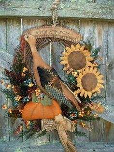 It has a black crow and I have stenciled FALL onto this adorable pumpkin. Adorable hanging from a knob on an old cupboard or even used as a door keep. Thanksgiving Traditions, Thanksgiving Wreaths, Fall Wreaths, Thanksgiving Decorations, Country Wreaths, Happy Thanksgiving, Primitive Fall, Primitive Crafts, Primitive Wreath