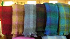 Scottish Mohair plaid blankets